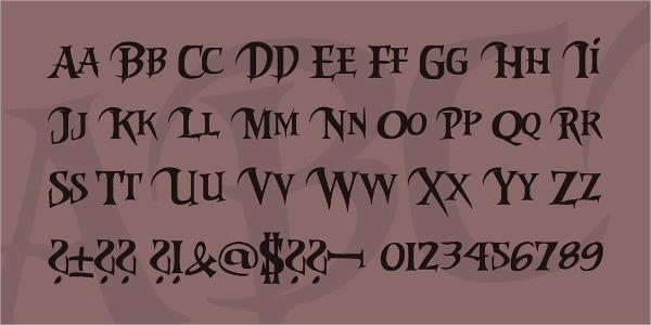 riky vampdator horror font