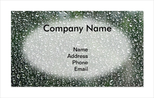 waterproof business card