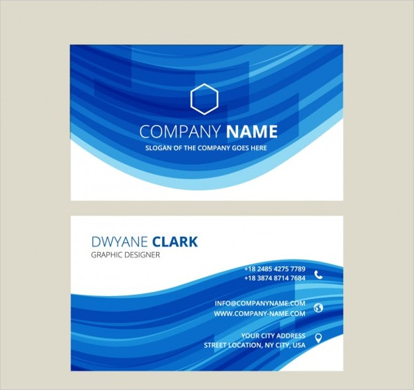 abstract transparent business card template