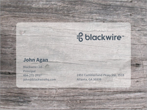 Print Transparent Business Card