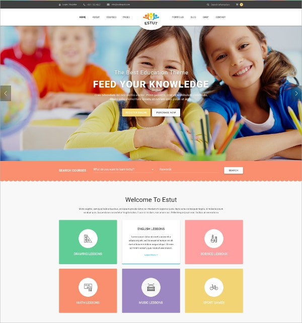 Premium Responsive Education HTML5 WordPress Theme $59