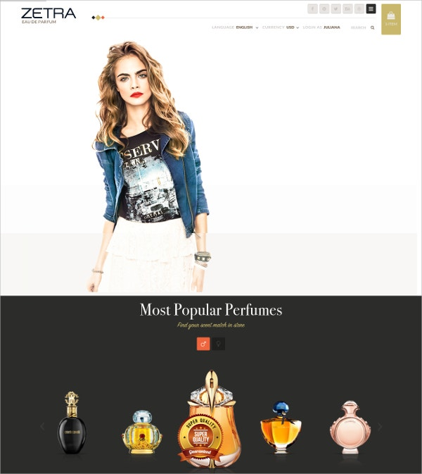 Fashion eCommerce HTML5 Template $17