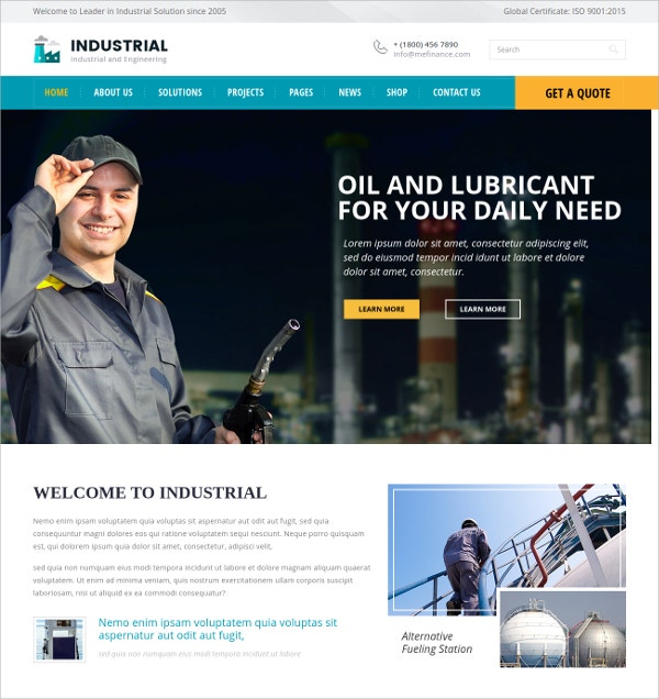 Industrial And Engineering HTML Template $17