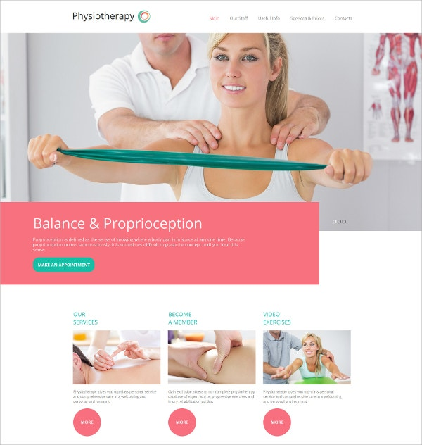 Physiotheraphy HTML5 Template $139