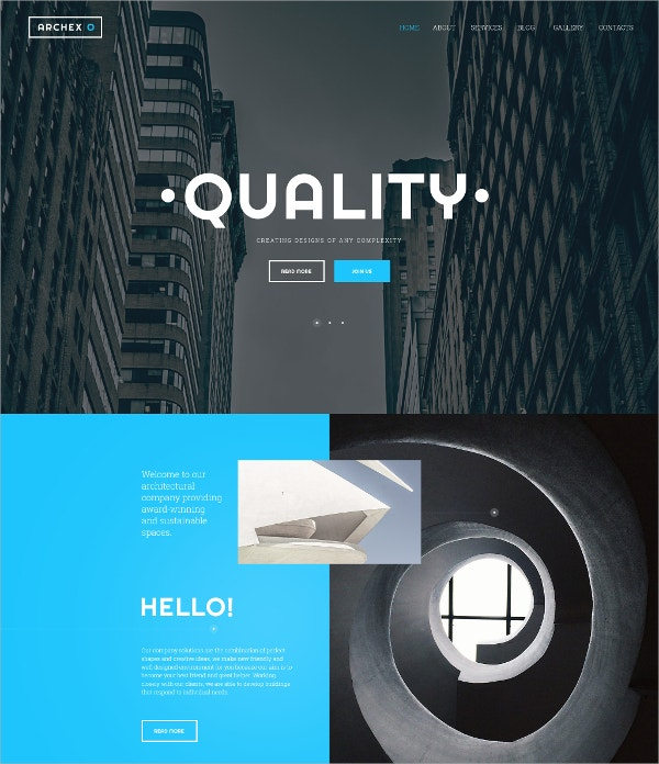 design of complex html5 website template 69