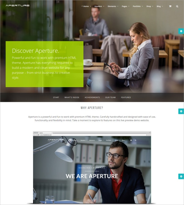 Creative Business & Corporate HTML5 Theme $18