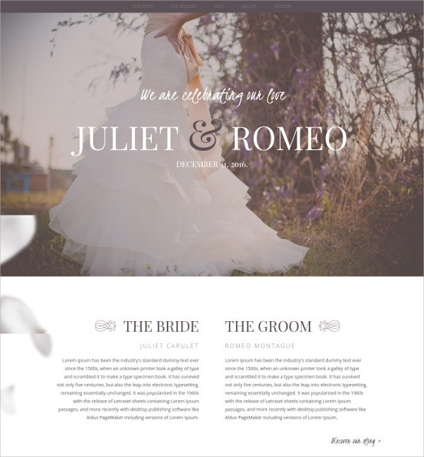 Wedding Ceremony HTML5 Template $16