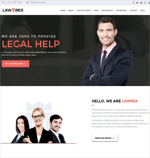Lawyer Business WordPress HTML5 Theme $49