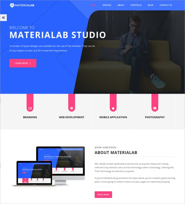 Multi Concept Material HTML5 Template $17