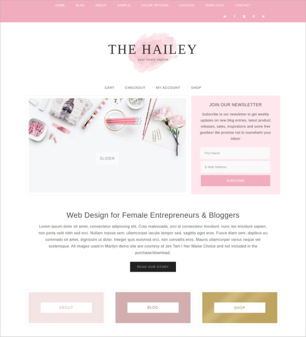 Makeup WordPress HTML5 Theme $55