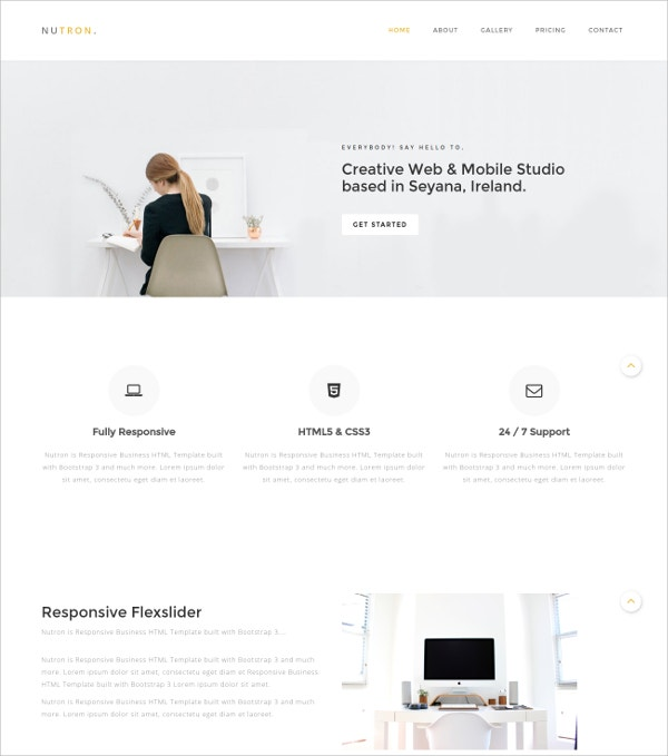 Responsive Business HTML5 Website Theme $12