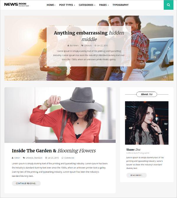 Responsive Modern Design Blog HTML5 Template $12