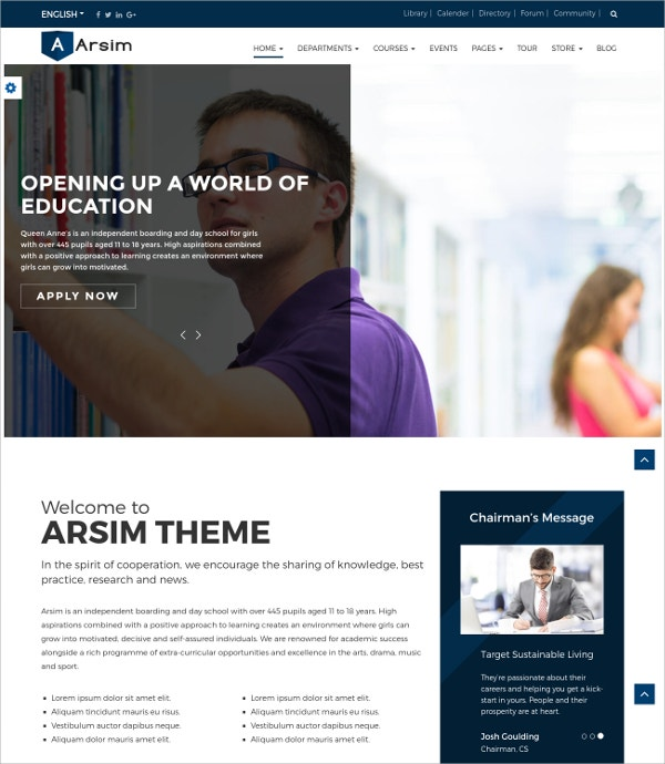 Events & Education HTML5 WordPress Theme $59