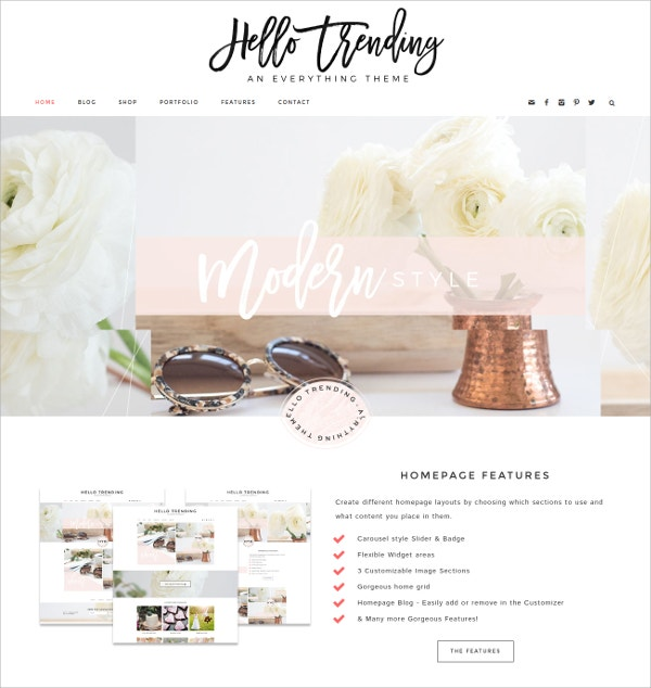 Moden Wedding eCommerce WordPress Theme $75