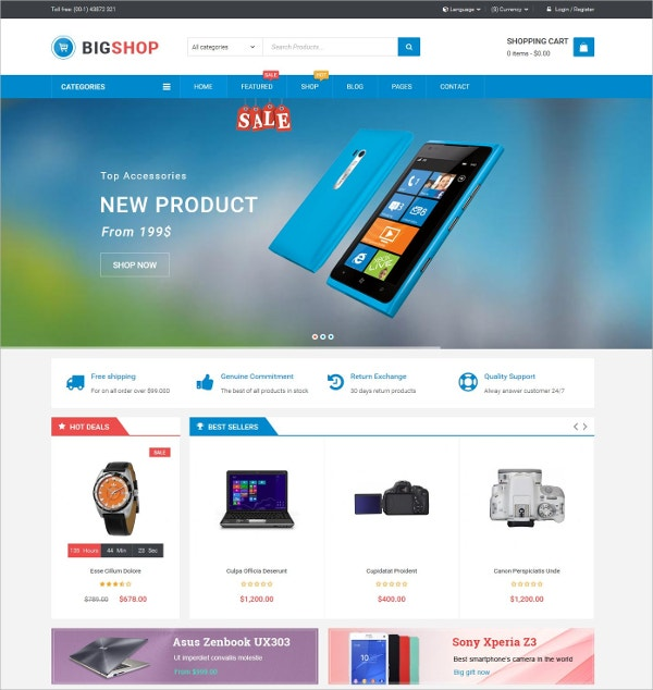 Multipurpose eCommerce WordPress Theme $59