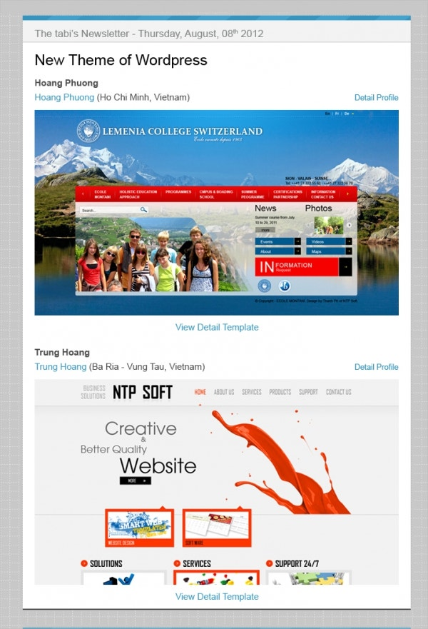 example email marketing template