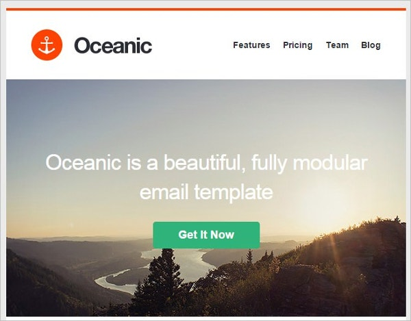 example modular email marketing template