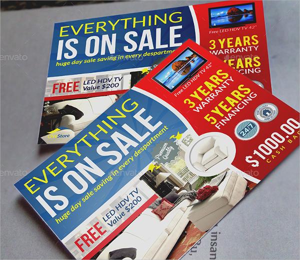 sample sale market flyer template