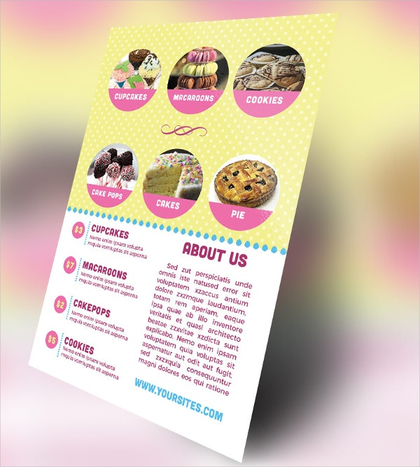 Bakery Marketing Flyer Sample Template  Flyer Samples Templates