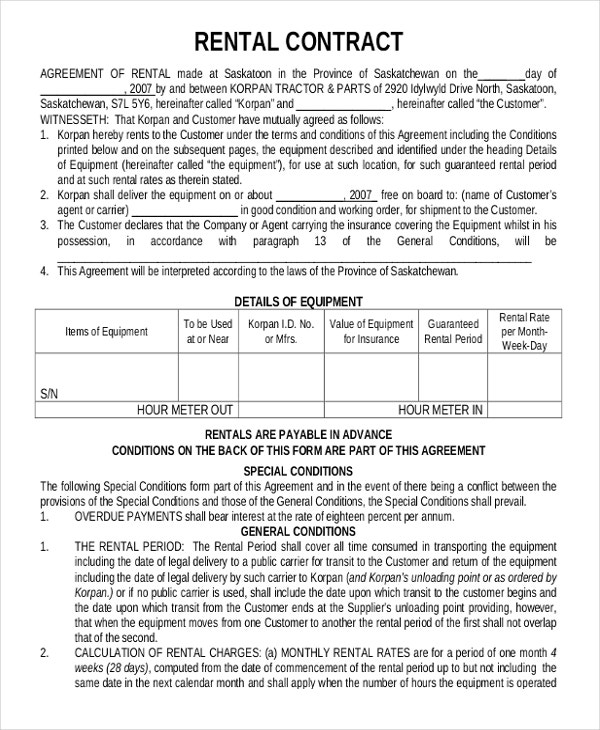 Lease Agreement Form Pdf  BesikEightyCo