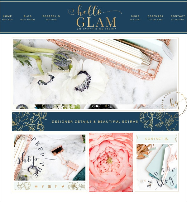 Feminine eCommerce WordPress Theme $75
