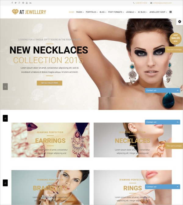 Jewellery Store eCommerce Joomla Template $29