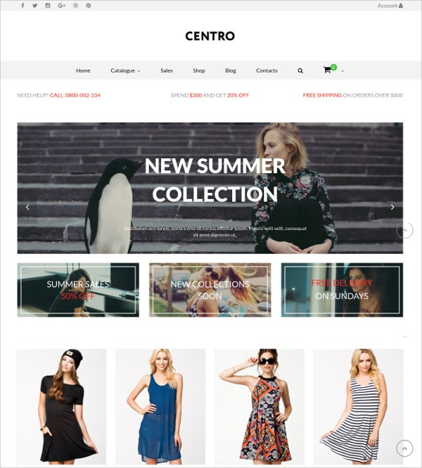 Multipurpose eCommerce WP Theme $59