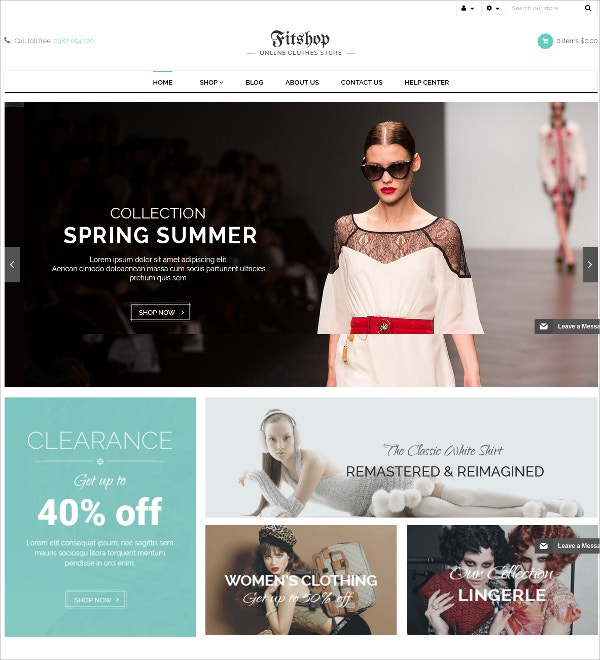 eCommerce Responsive Fashion Theme $45