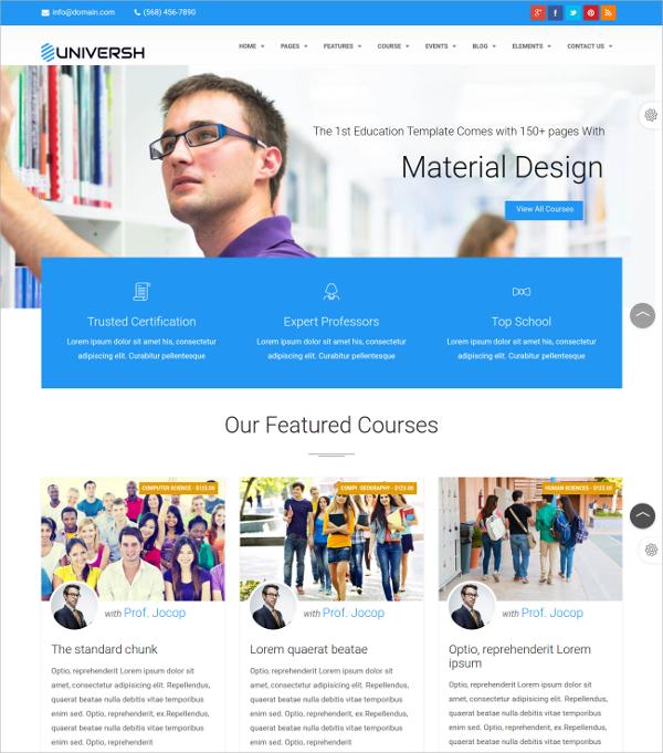 MultiPurpose Education Drupal Theme $48