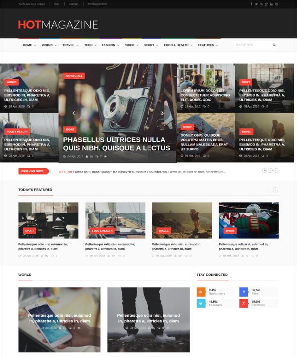 News & Magazine Drupal Theme $48