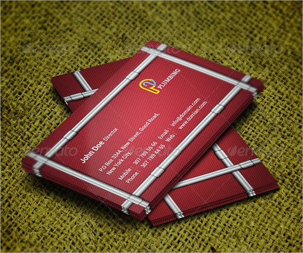 21 construction business cards free psd ai eps format download plumber business card template wajeb Gallery
