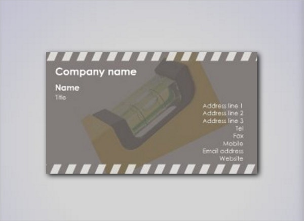 contractor business card template