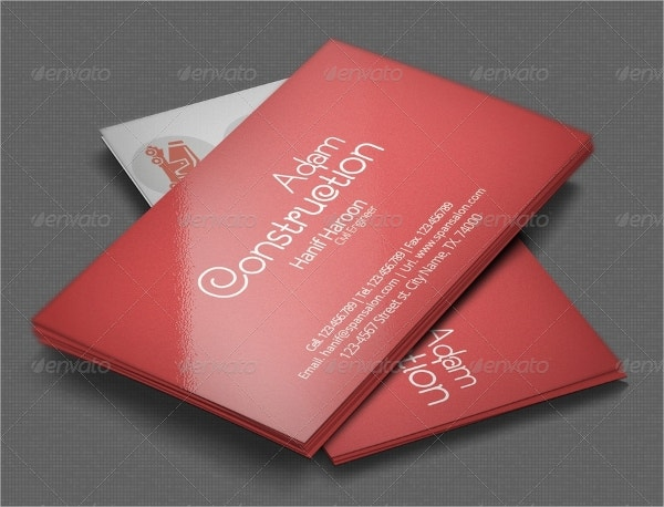 builders construction business card