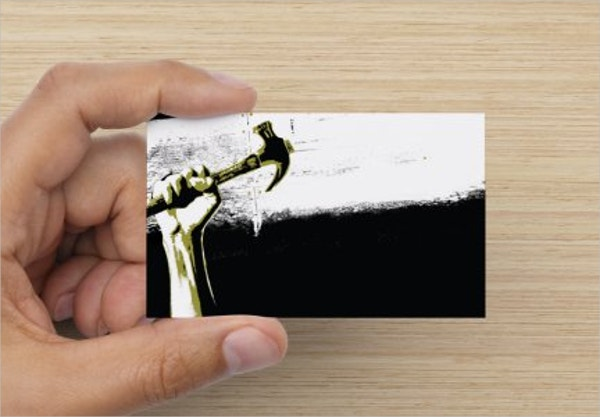 Editable Construction Business Card
