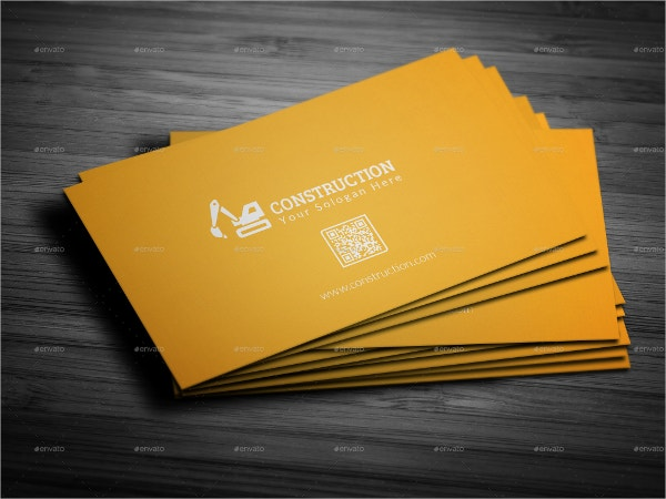 Construction Business Cards Free PSD AI EPS Format - Construction business card template