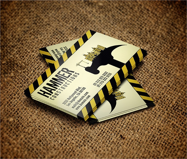 builders business card template