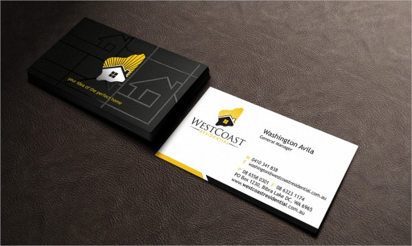 Construction Business Cards Free PSD AI EPS Format - Construction business card templates download free