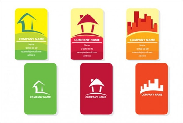set of real estate cards free vector1