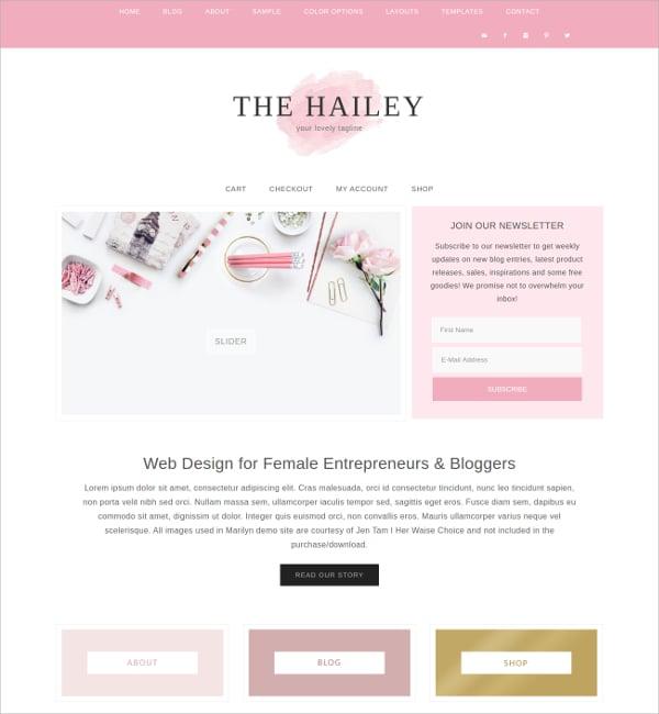 Design Blog WordPress Theme $55