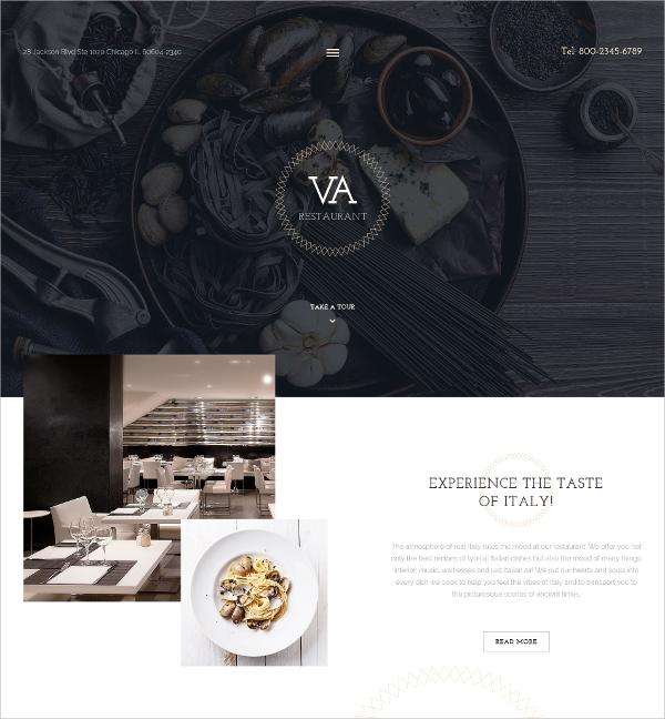 Tasty Food Restaurant Joomla Template $75