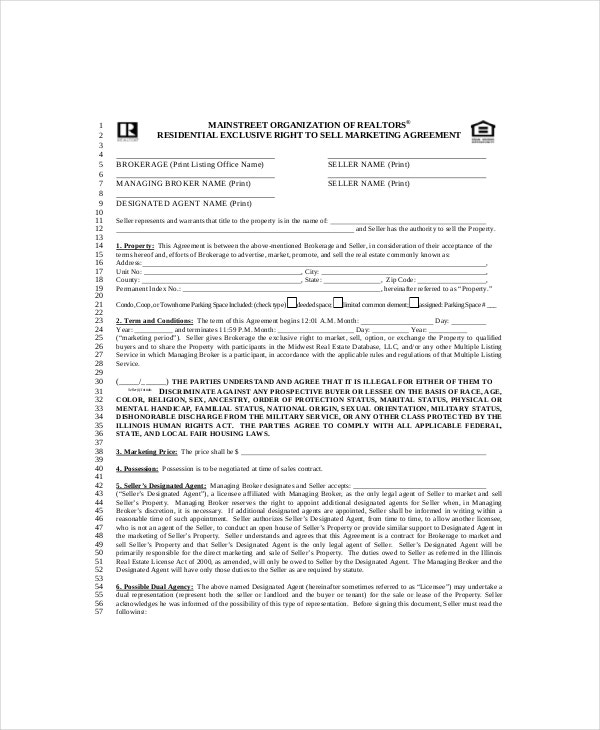 20 marketing agreement template free sample example format example exclusive marketing agreement template platinumwayz