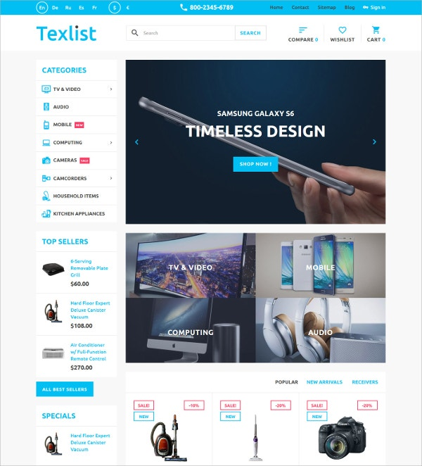 Premium Design PrestaShop Blog Theme $139