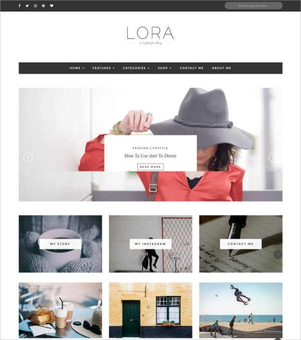 Clean & Personal WordPress Blog Theme $39