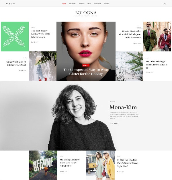 Magazine Blog WordPress Theme $49