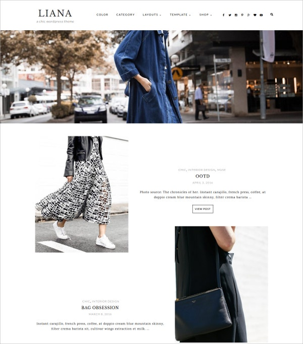 Minimalist eCommerce Blog WordPress Theme $49