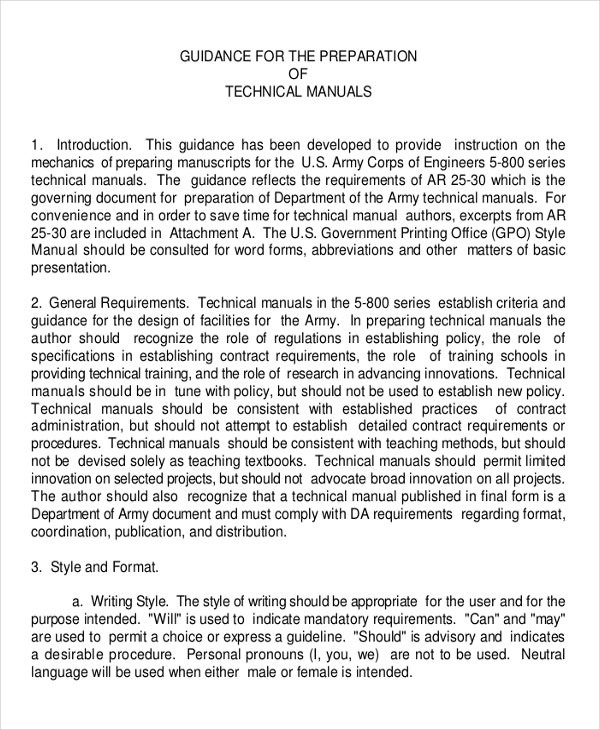 Technical Manual Template