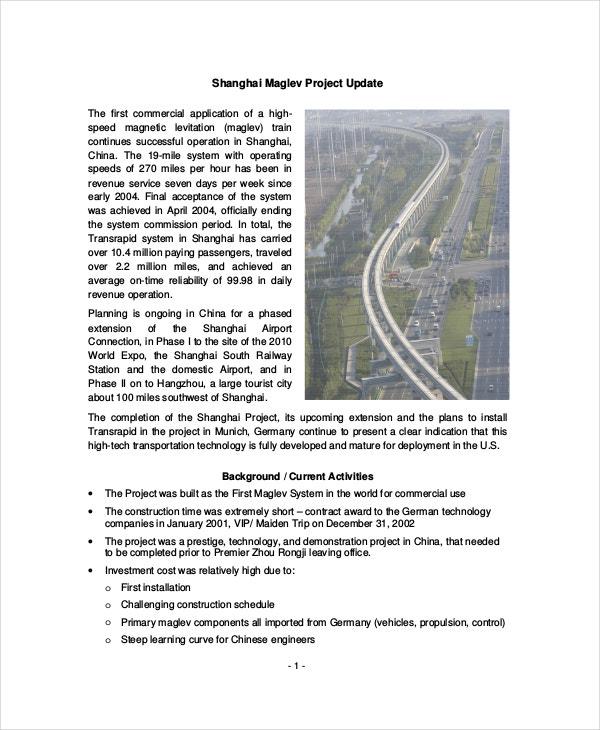 Shanghai Maglev Project Update