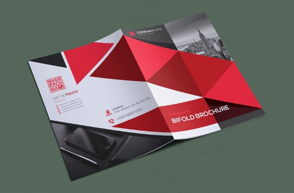 example marketing bifold brochure template