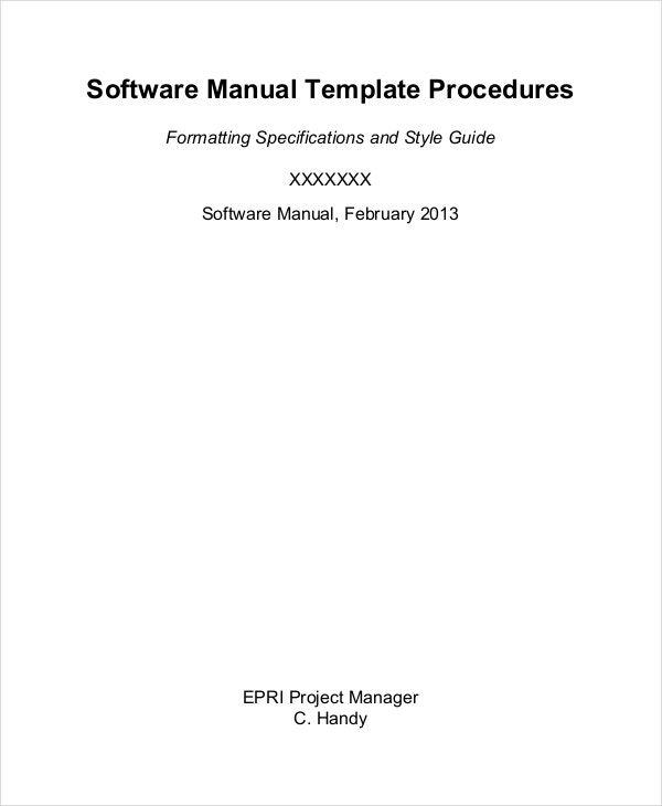 Software Manual Template. Sop Accounting Ms Word Procedure Template ...