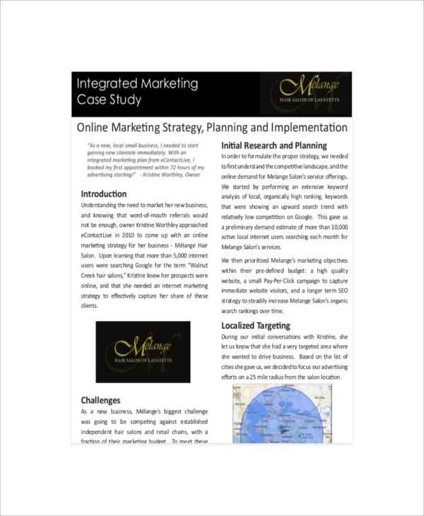 marketing case study The collection consists of marketing case studies and research reports on a wide range of companies and industries services marketing more short case studies.